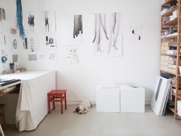 dieses Foto zeigt die Werkstatt von Doris Scheuermann