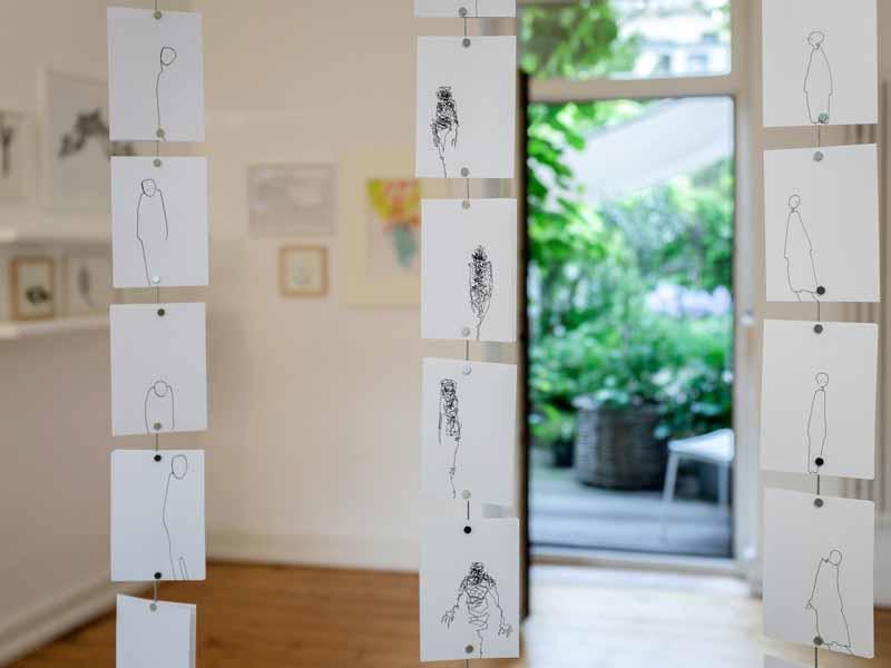 Ausstellungsansicht | zeichnung 01 | 2019