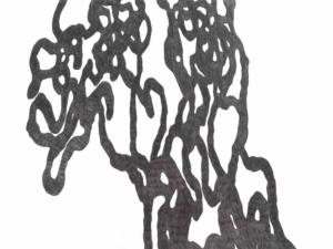 das Bild zeigt eine Zeichnung mit Bleistift von Doris Scheuermann