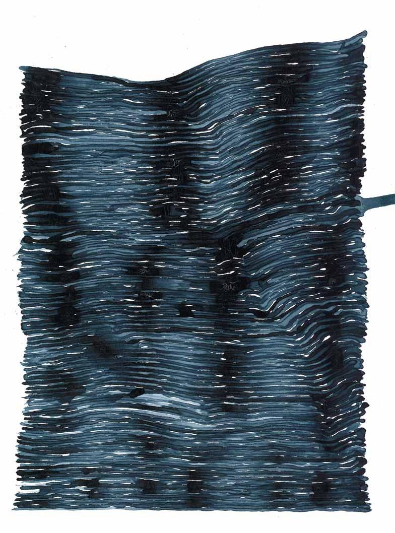 curve_01 | 2021 | 38 x 28 cm | Tusche auf Papier