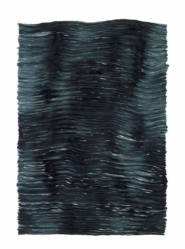 curve_02 | 2021 | 38 x 28 cm | Tusche auf Papier