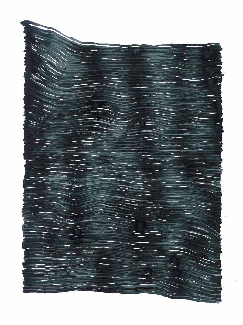 curve_04 | 2021 | 38 x 28 cm | Tusche auf Papier