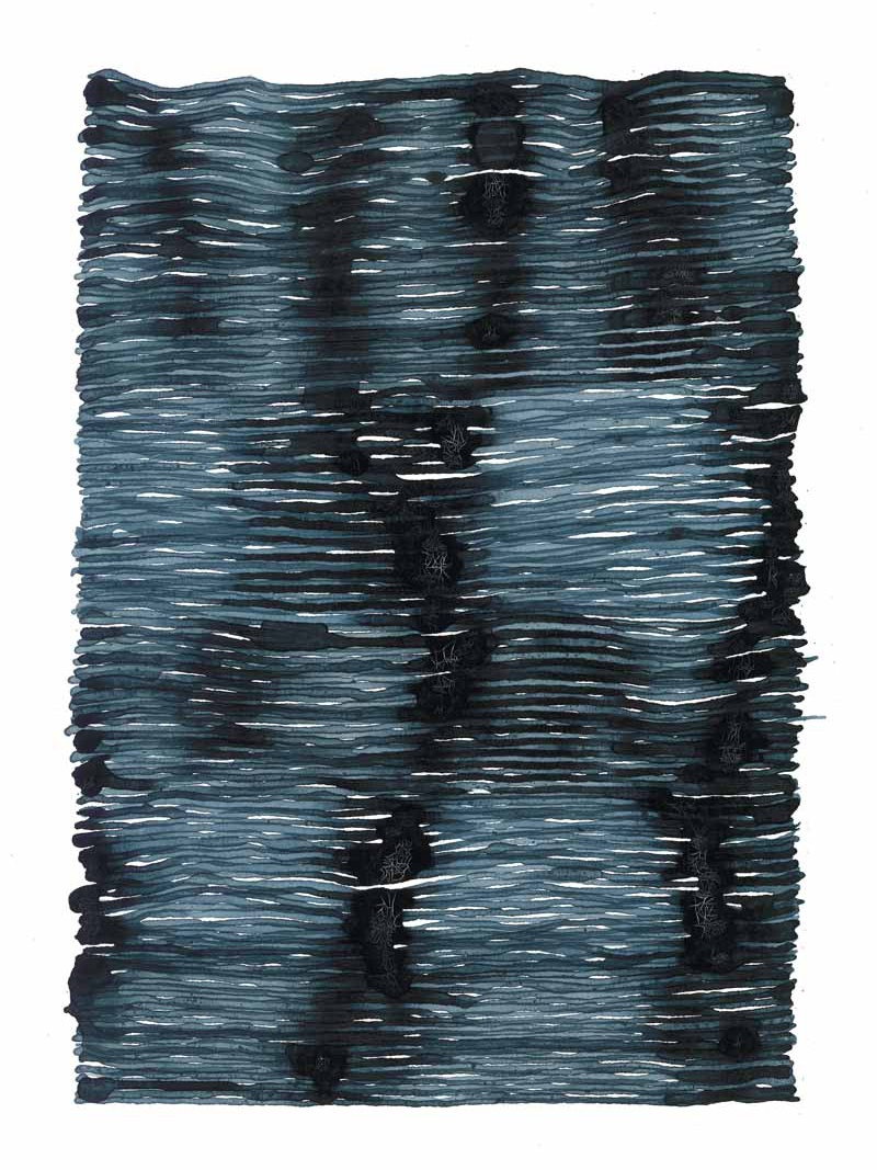 curve_06 | 2021 | 38 x 28 cm | Tusche auf Papier