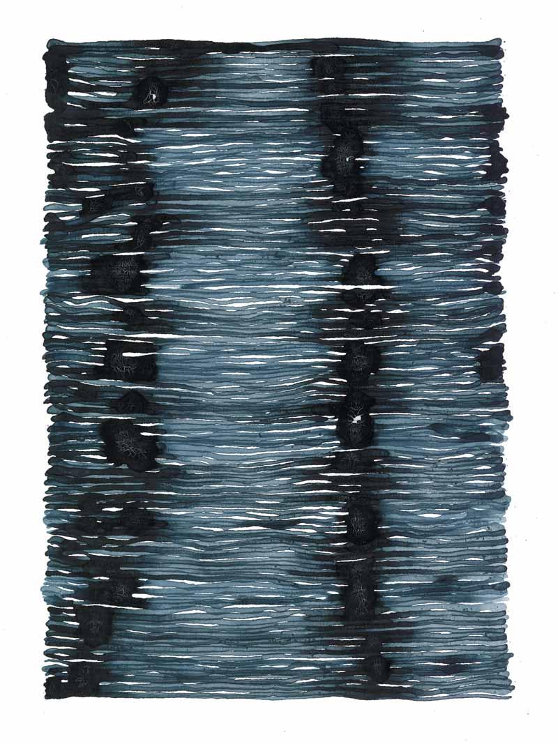 curve_07 | 2021 | 38 x 28 cm | Tusche auf Papier