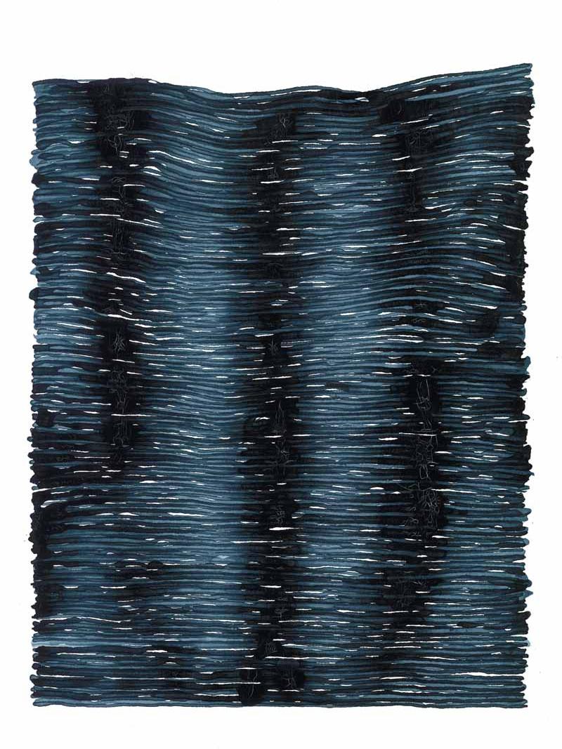 curve_08 | 2021 | 38 x 28 cm | Tusche auf Papier
