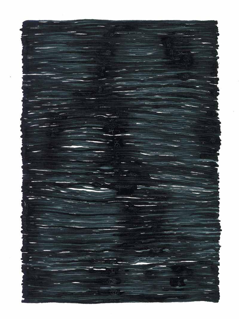 curve_09 | 2021 | 38 x 28 cm | Tusche auf Papier