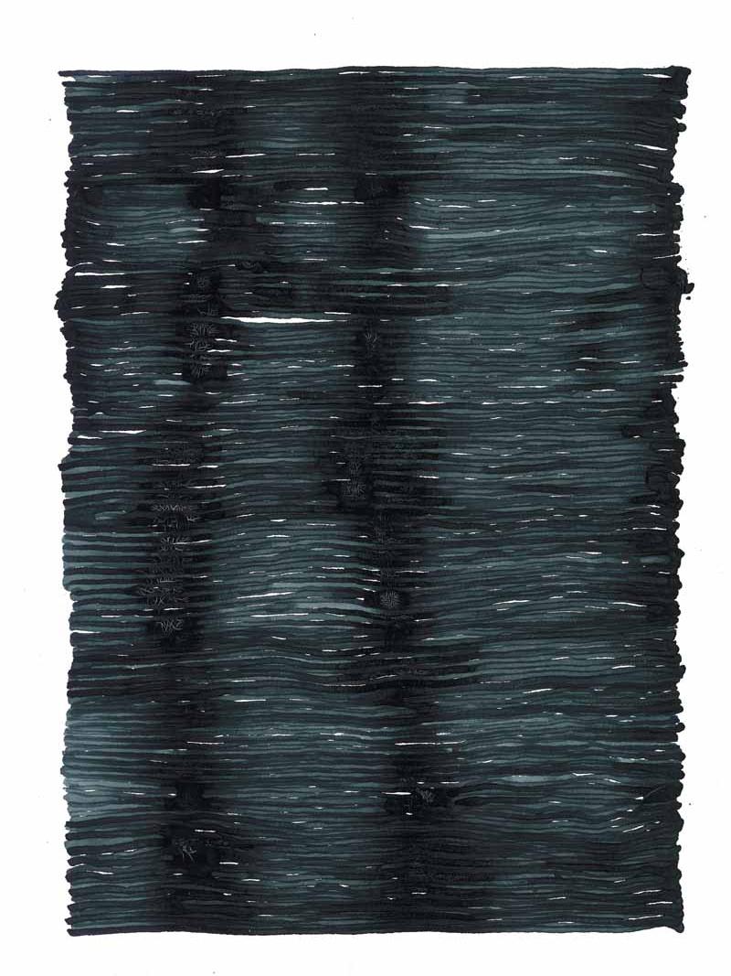 curve_12 | 2021 | 38 x 28 cm | Tusche auf Papier