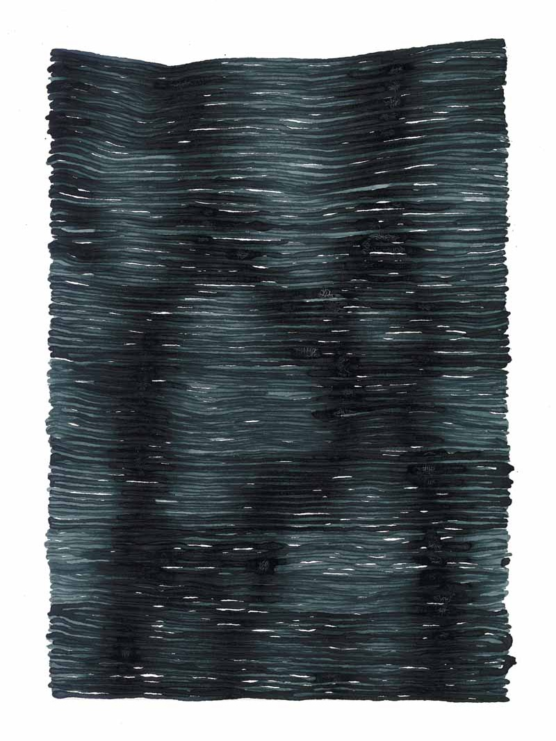 curve_14 | 2021 | 38 x 28 cm | Tusche auf Papier