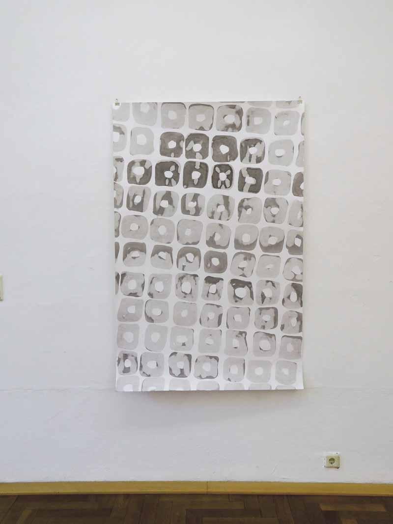 loop_3 | 2019 | 167 x 110 cm | Tusche auf Papier