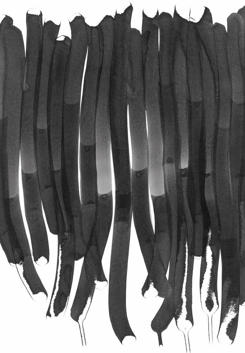 pure_13 | 2015 | 70 x 50 cm | Tusche auf Papier
