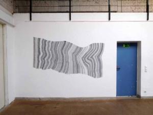 das Foto zeigt eine Wandzeichnung von Doris Scheuermann