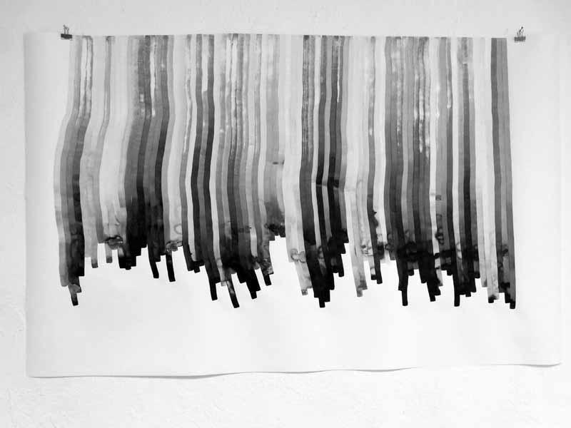 time sheet n°74   2020   110 x 169 cm   Tusche auf Papier