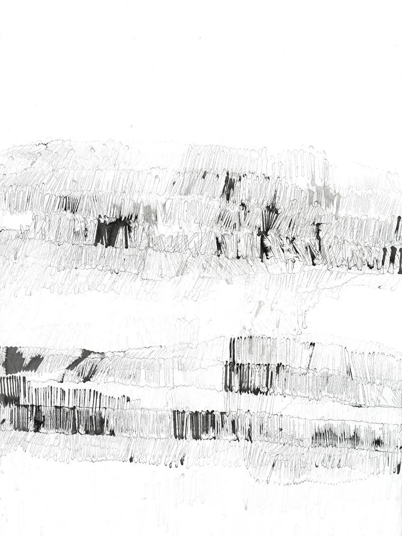 ohne Titel_08 | 2018 | 70 x 50 cm | Tusche auf Papier